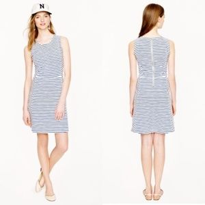 J. Crew Blue Stripe Ponte Dress
